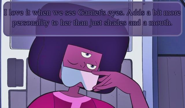 I Love It When We See Garnet S Eyes Adds A Bit More Personality