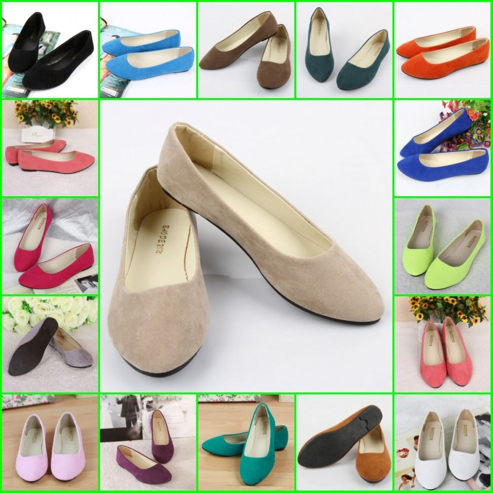 SS03 women's flat shoes 30 colors women matte surface shallow mouth single  work shoes simple sexy
