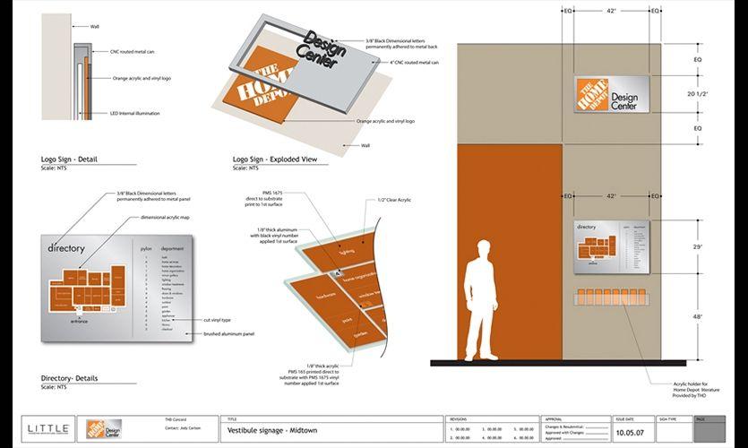 Vestibule Signage Plan Home Depot Design Center Home Depot Little Segd Design Signage Design Signage