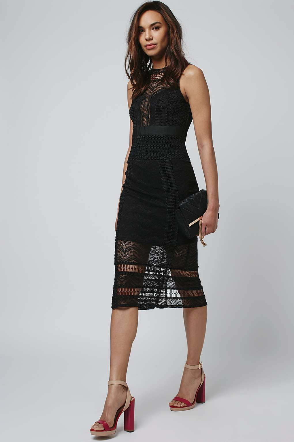 Mixed Lace Dress Lace Dress Topshop And Formal Wear