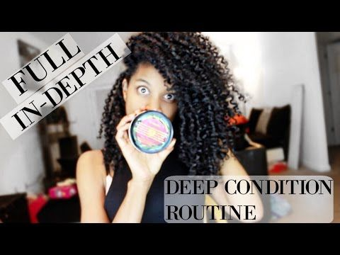 The Best Deep Condition Routine on Natural Hair (START TO FINISH) - YouTube