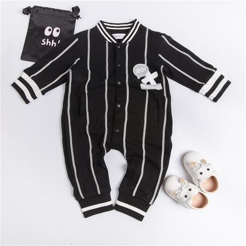 c703af7e2ae4 EnkeliBB Clearance Striped Baby Boys Rompers Full Sleeve Black Jumpsuit  Autumn Spring Toddler Boy Clothes Fashion Cotton Outwear