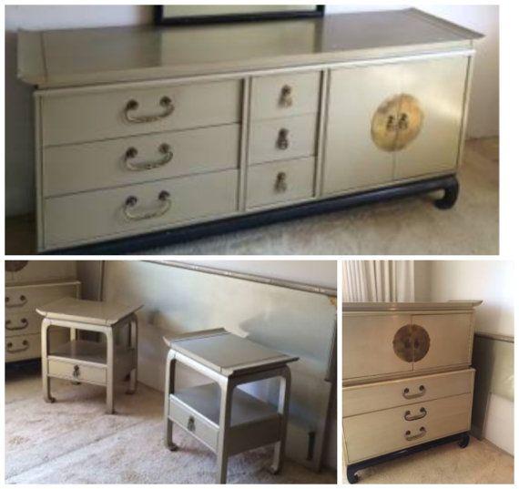 SOLD Vintage Kent Coffey Amerasia Bedroom Set By MiVidaVintageLA - Kent coffey bedroom furniture