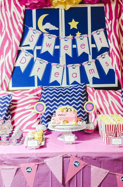 Love this awesome slumber party!  See more party ideas at CatchMyParty.com!  #partyideas #girlbirthday