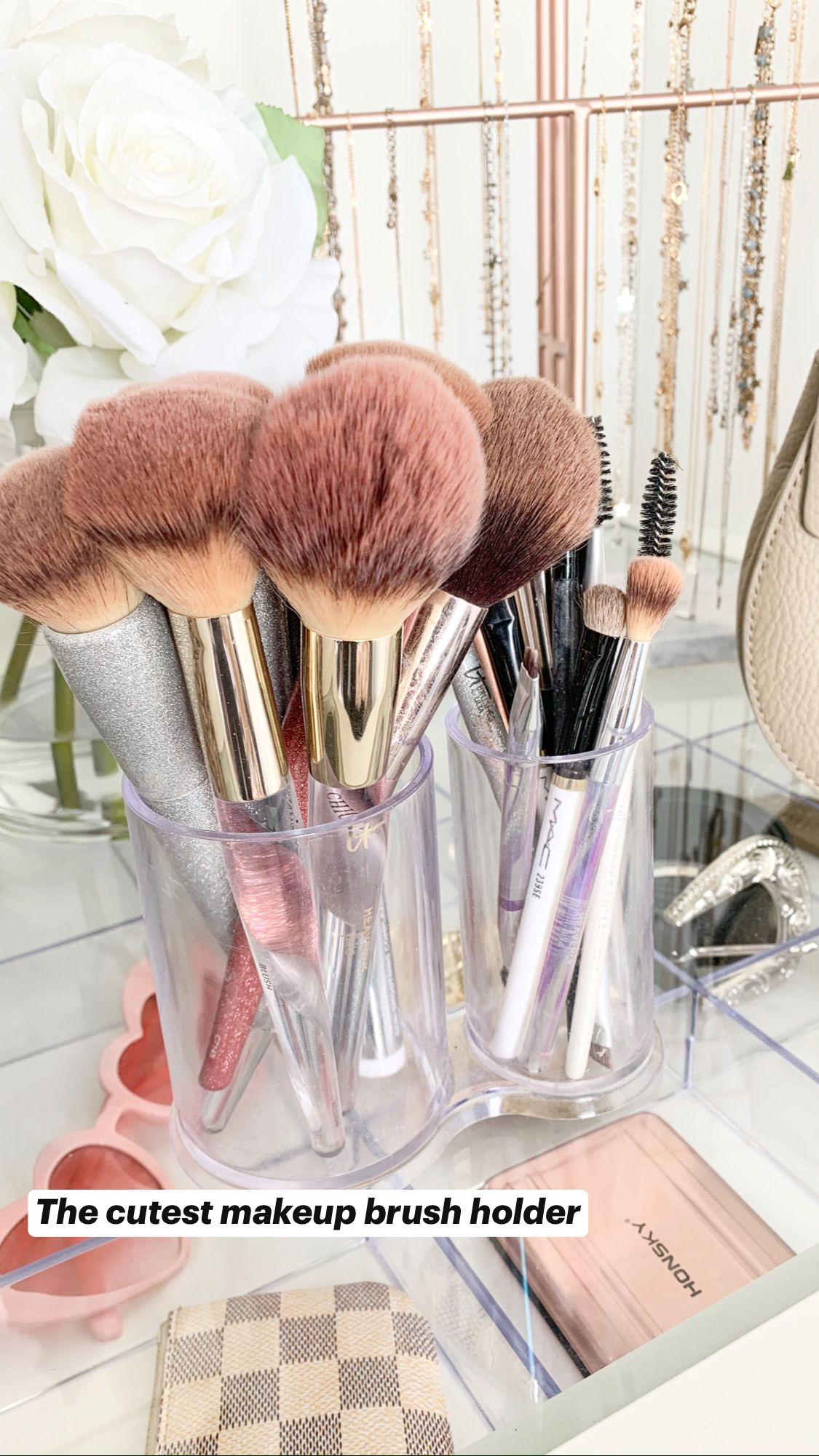 The cutest makeup brush holder
