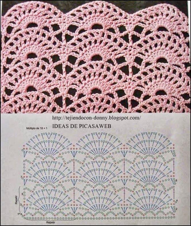 Croche | Artes | Pinterest | Ganchillo, Puntadas y Tejido
