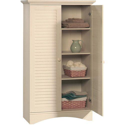 $175. Sauder Harbor View Storage Cabinet, Antiqued White