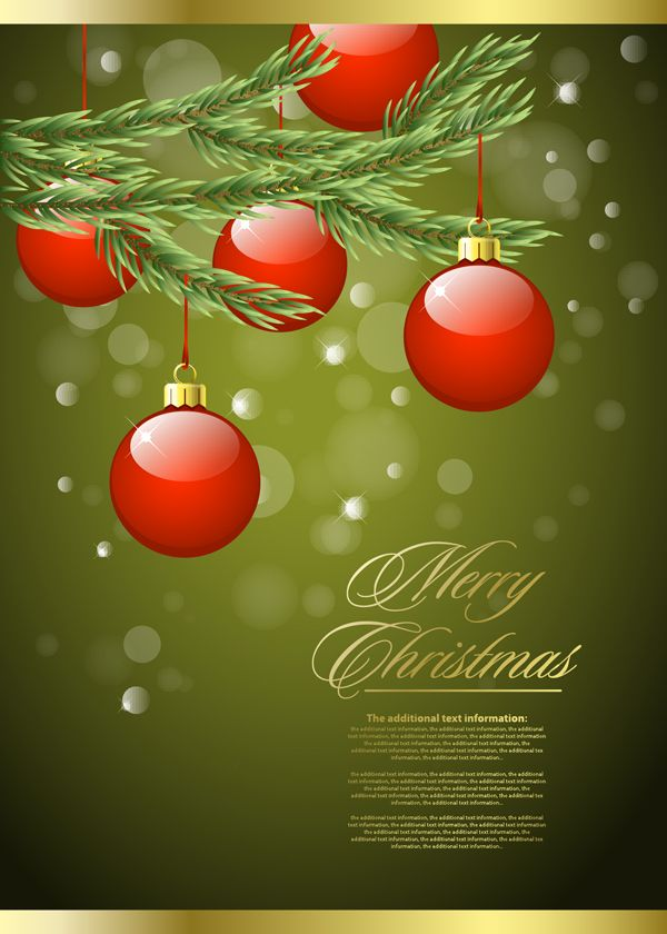 free vector Beautiful christmas background graphic available