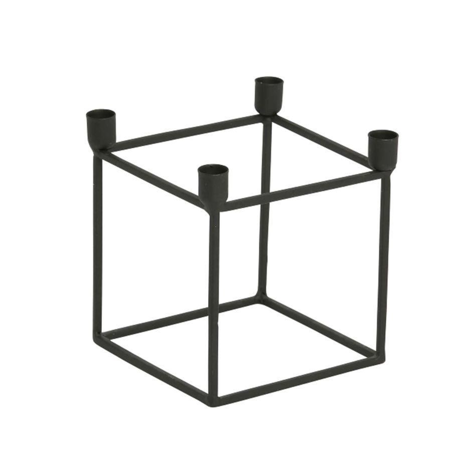 Kerzenständer Metall neu kerzenhalter 4er kubus größe s schwarz metall kerzenständer