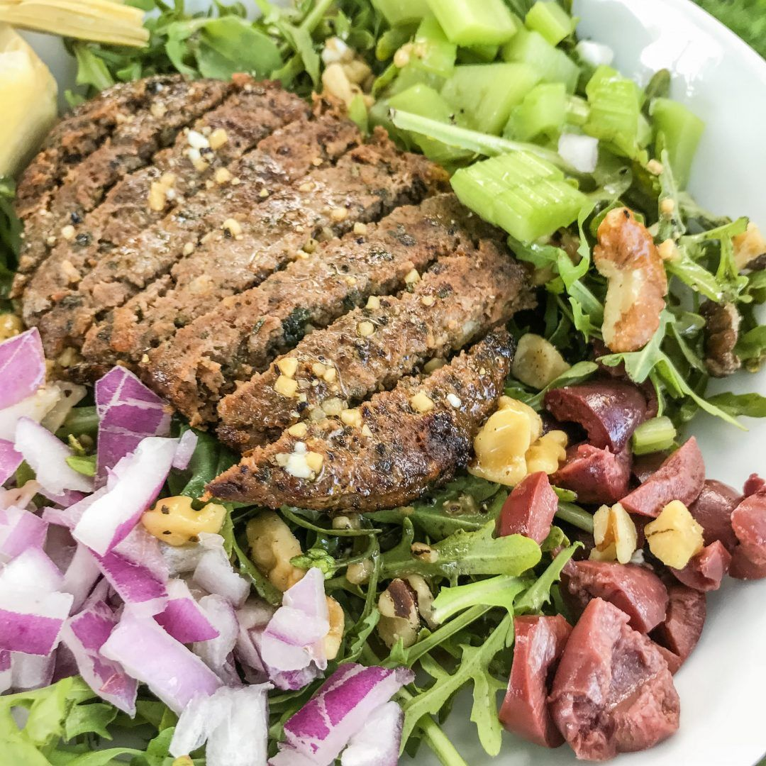 Mediterranean Salad With Simple Greek Dressing Recipe