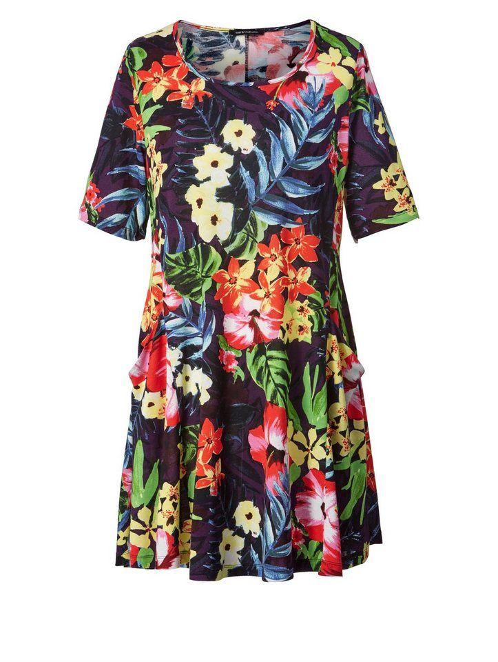 Sara Lindholm by Happy Size Kleid mit Blumen Print nur 39,99