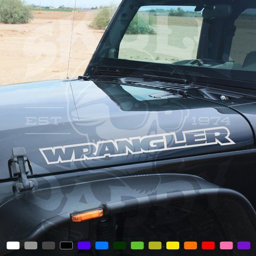 Jeep Wrangler Hood Factory Outline Stickers Vinyl Decals