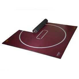 Possibly In The Playroom Home Use Wrestling Mat Maroon In
