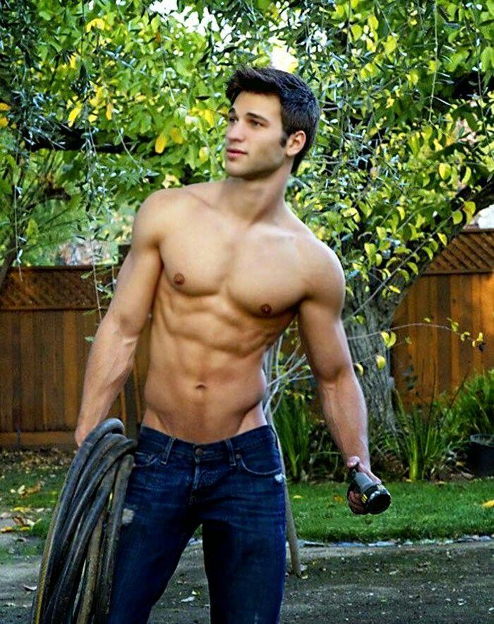 Hunk of a gardener