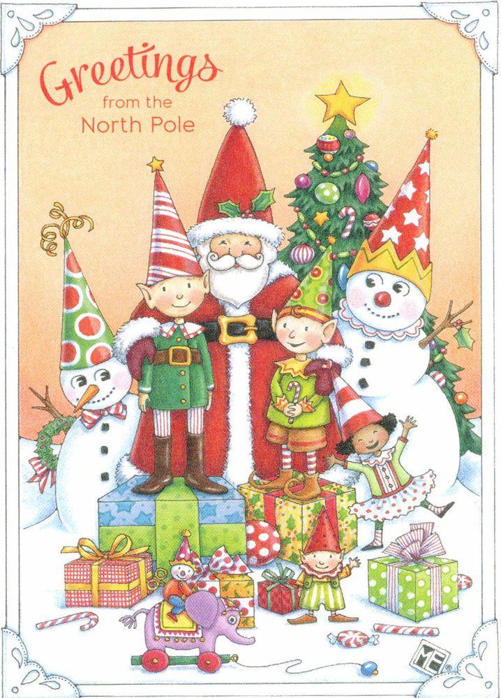 Mary Engelbreit-GREETINGS FROM THE NORTH POLE SANTA ELVES-Christmas ...