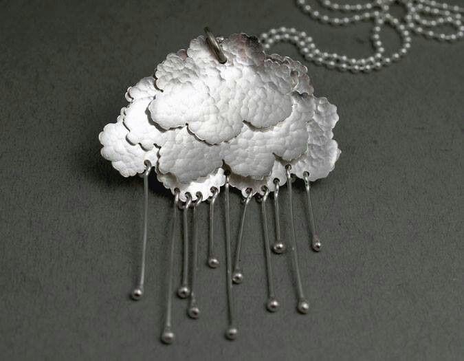 Rain Cloud Pendant by Lisa West.