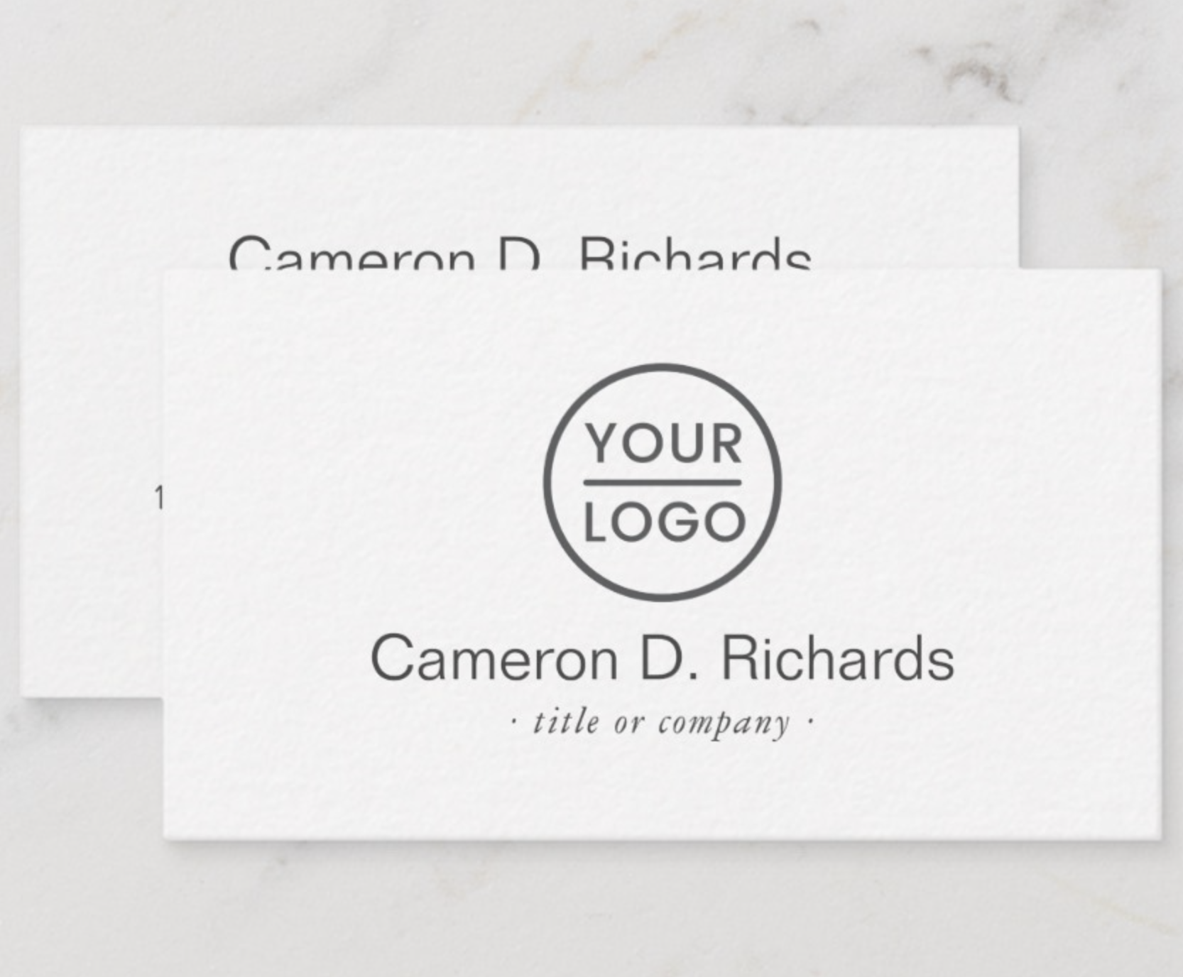 Add Your Own Logo Minimal Custom Business Card Zazzle Com Custom Business Cards Business Card Logo Business Card Template