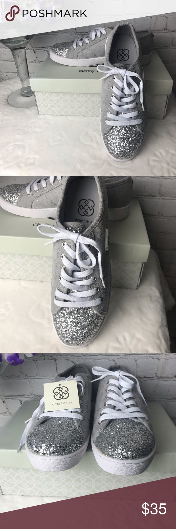 daisy fuentes glitter tennis shoes