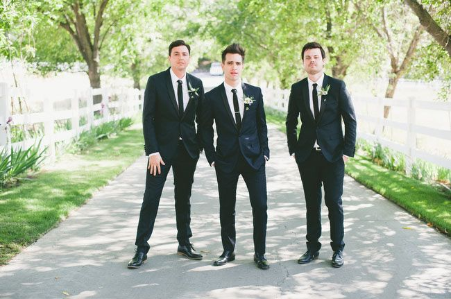 Glamorous Malibu Wedding Sarah Brendon Malibu Wedding Brendon Urie Wedding Groomsmen Looks