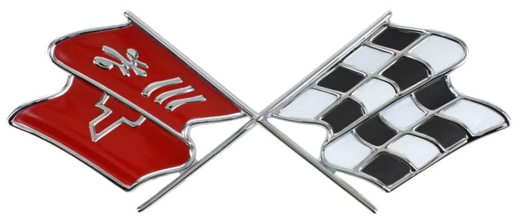 C3 Logo Corvette Chevrolet Corvette Cross Flag