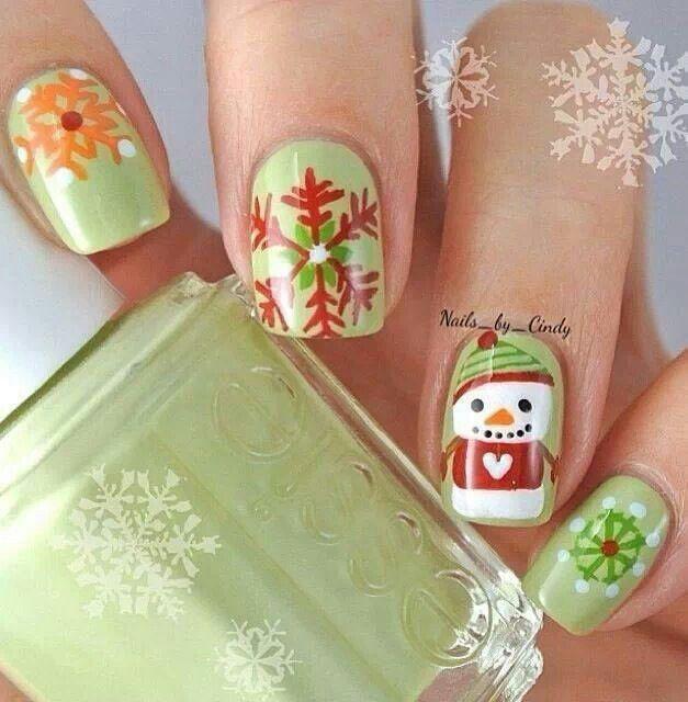 Christmas nails | Nails | Pinterest | Lindo, Uñas navidad y Navidad