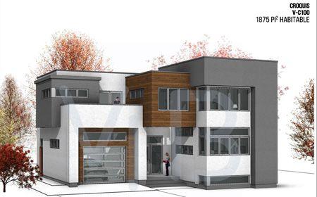 Plan d\u0027architecture contemporain pour maison neuve cottage avec