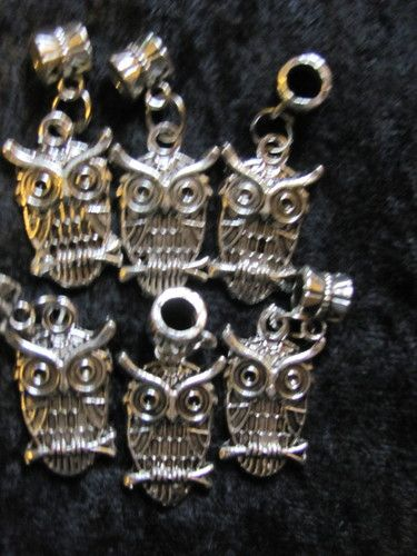 '6pcs Tibetan Silver Charms lovely owl Beads' is going up for auction at  7am Sun, May 19 with a starting bid of $7.