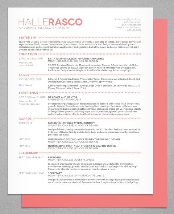 30 Most Visually Creative Resumes Youu0027ve Ever Seen Helpful Hints   Hints  For Good Resumes  Hints For Good Resumes