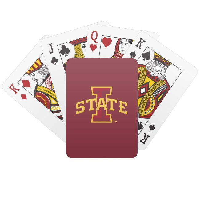 Iowa State University | Iowa State Arched Logo Playing Cards | Zazzle.com
