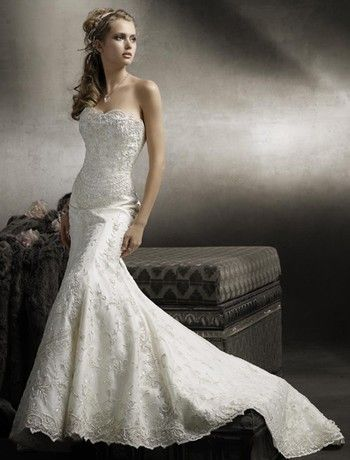 mermaid wedding dress..would be perfect, but I would add little ...