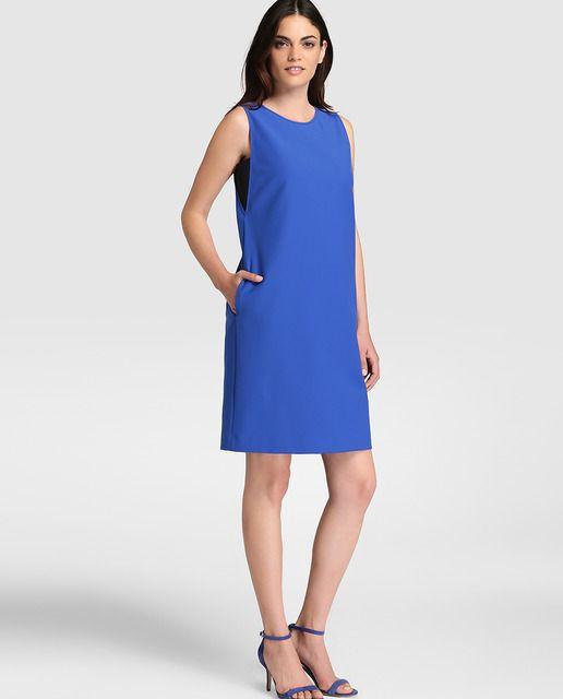8bc5360fb Vestido recto de mujer Armani Collezioni en azul