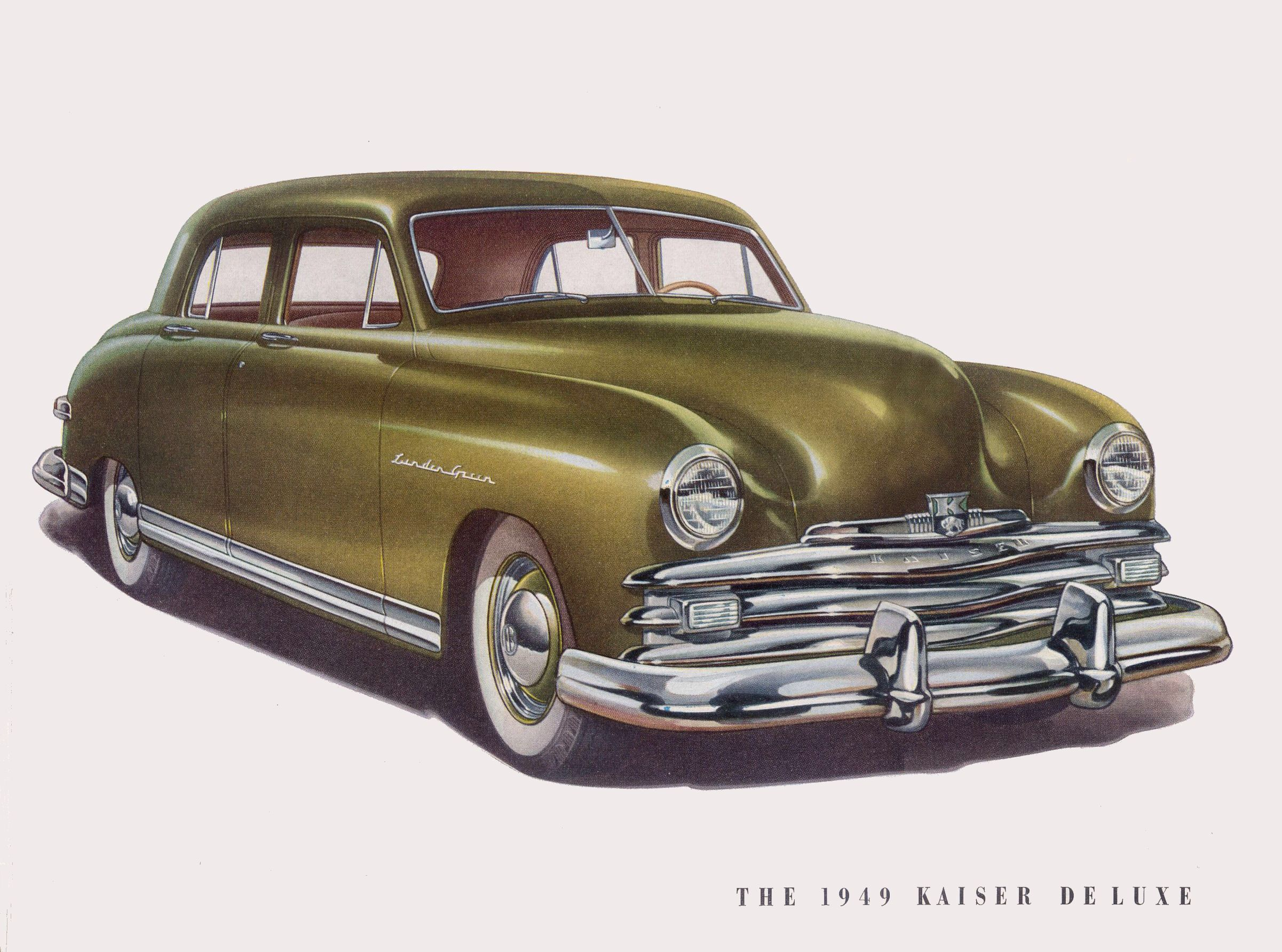 The 1949 Kaiser Deluxe In Linden Green Kaisers Wore The Name Of