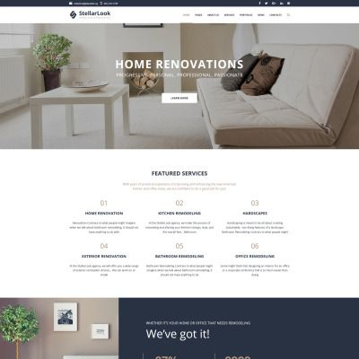 StellarLook - Renovation & Interior Design WordPress Theme ...
