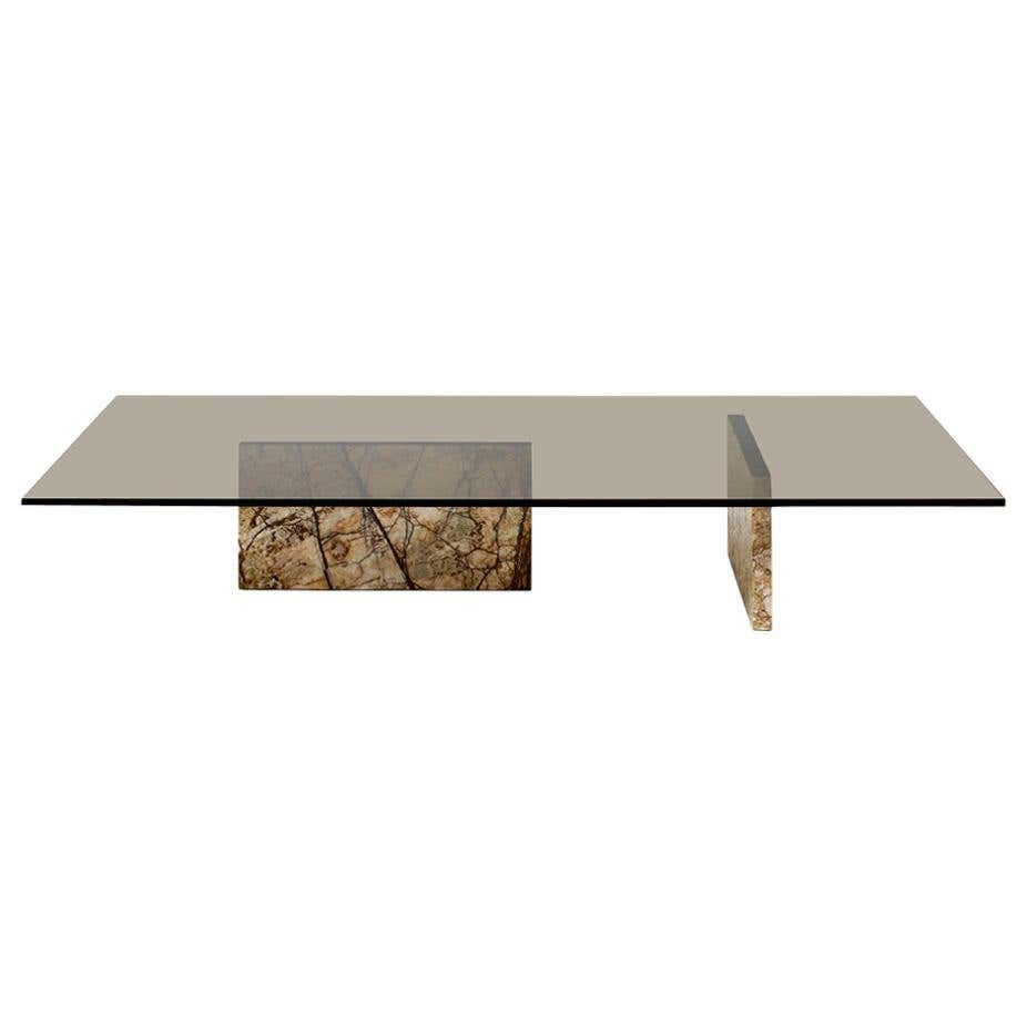 Claste Remember Me Low Rectangular Coffee Table In Marble With Bronze Glass Top Coffee Table Rectangular Coffee Table Marble Coffee Table [ 926 x 926 Pixel ]