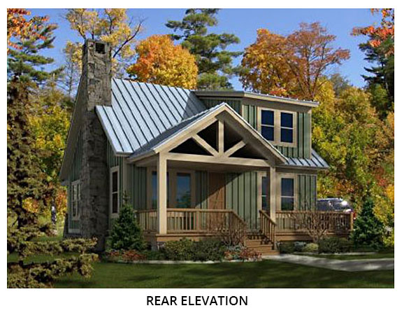 American Dipper Rear Xl Cottage House Plans House Styles