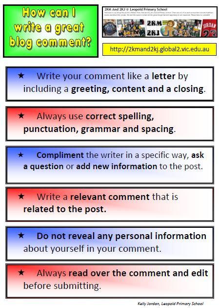 Student Blogging Activity 3 (Beginner) u2013 Teaching Quality Commenting - copy letter format for closing policy