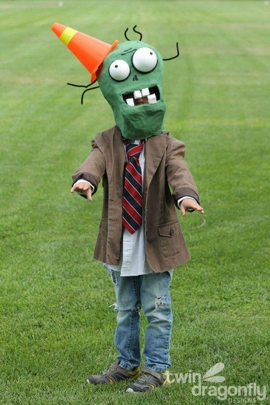 Plants Vs Zombies Chomper Zombie Costume DIY Tutorial 038