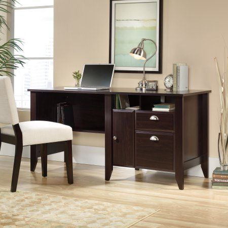 Sauder Shoal Creek Computer Desk Jamocha Wood Finish Brown