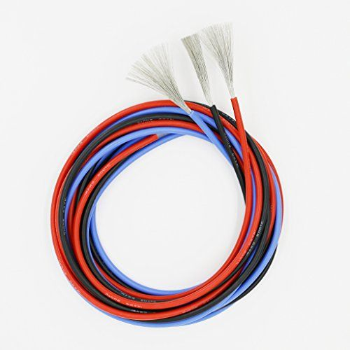 Bntechgo 14 Gauge Silicone Wire 15 Feet 5 Ft Black Red And Blue Soft And Flexible High Temperature Resistant Highly Efficient 14 Awg Silicone Wire 400 Strands Of Copper Wire Red Blue Copper Wire Wire
