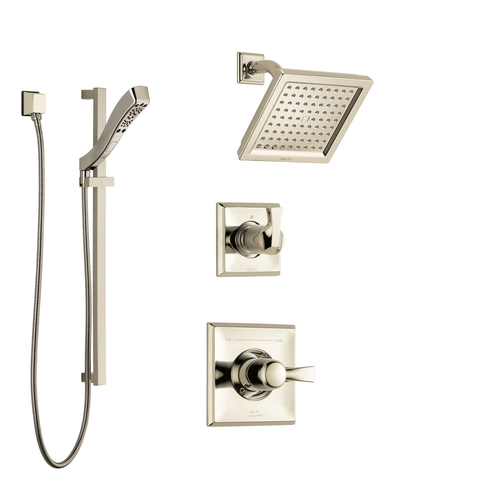 Delta Dryden Polished Nickel Finish Shower System With Control