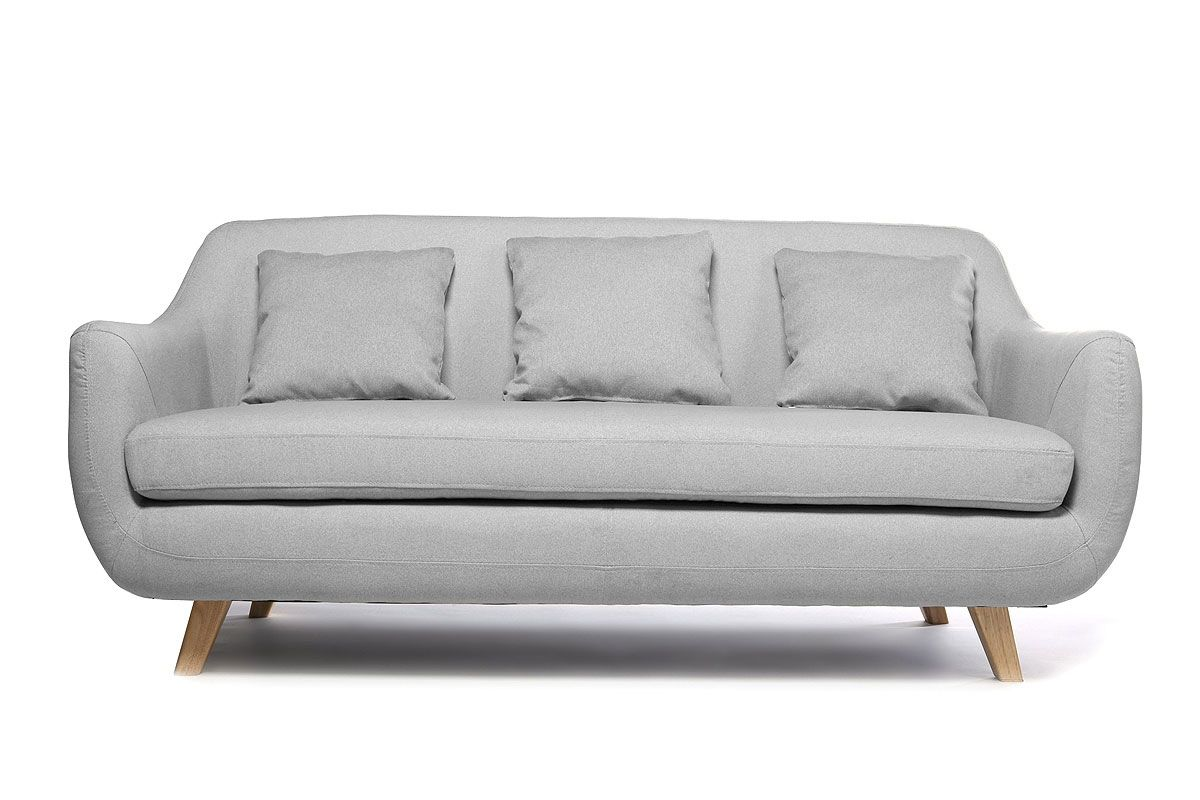 Sofá diseño escandinavo 3 plazas gris SKANDI - Zoom | Home Decor ...