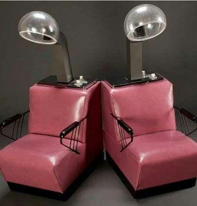 vintage salon dryer chairs vintage past things