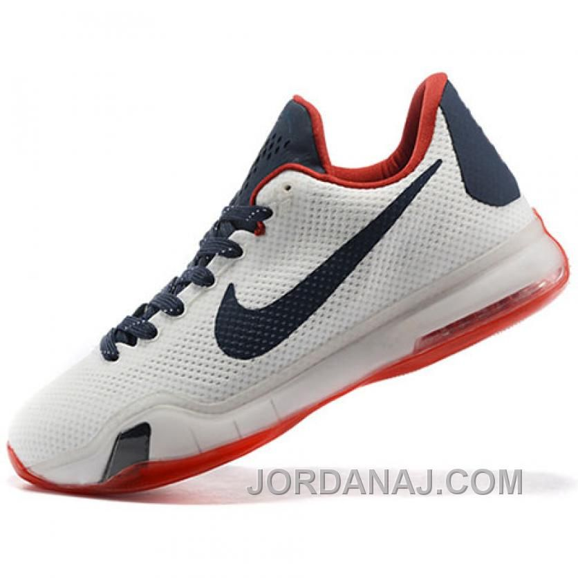 online store 8f0b7 c2eea Nike Kobe 10 PE University of Connecticut White Red Dark Blue Shoes