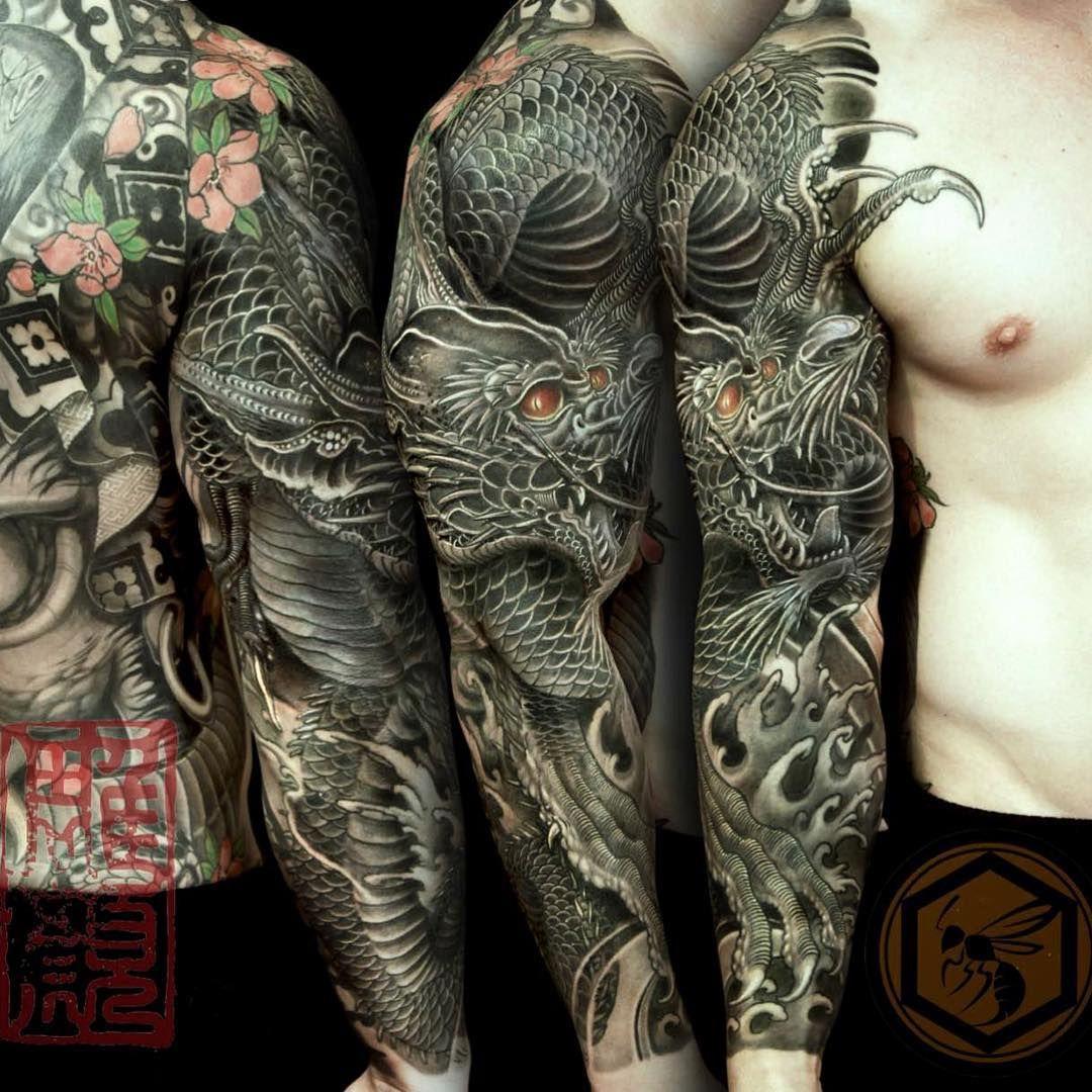 full sleeve tattoo completed