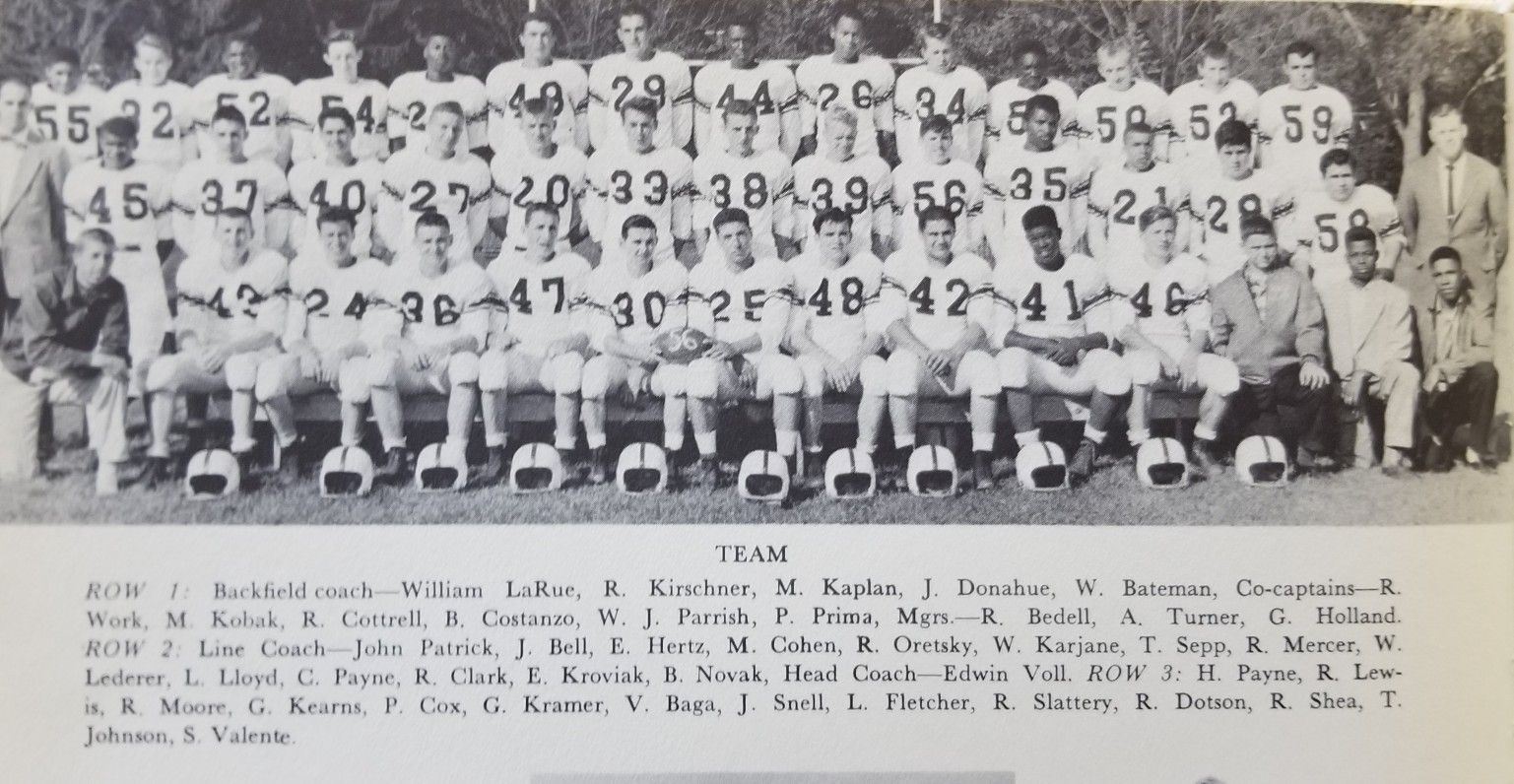 1956 lakewood piners football squad team photo with