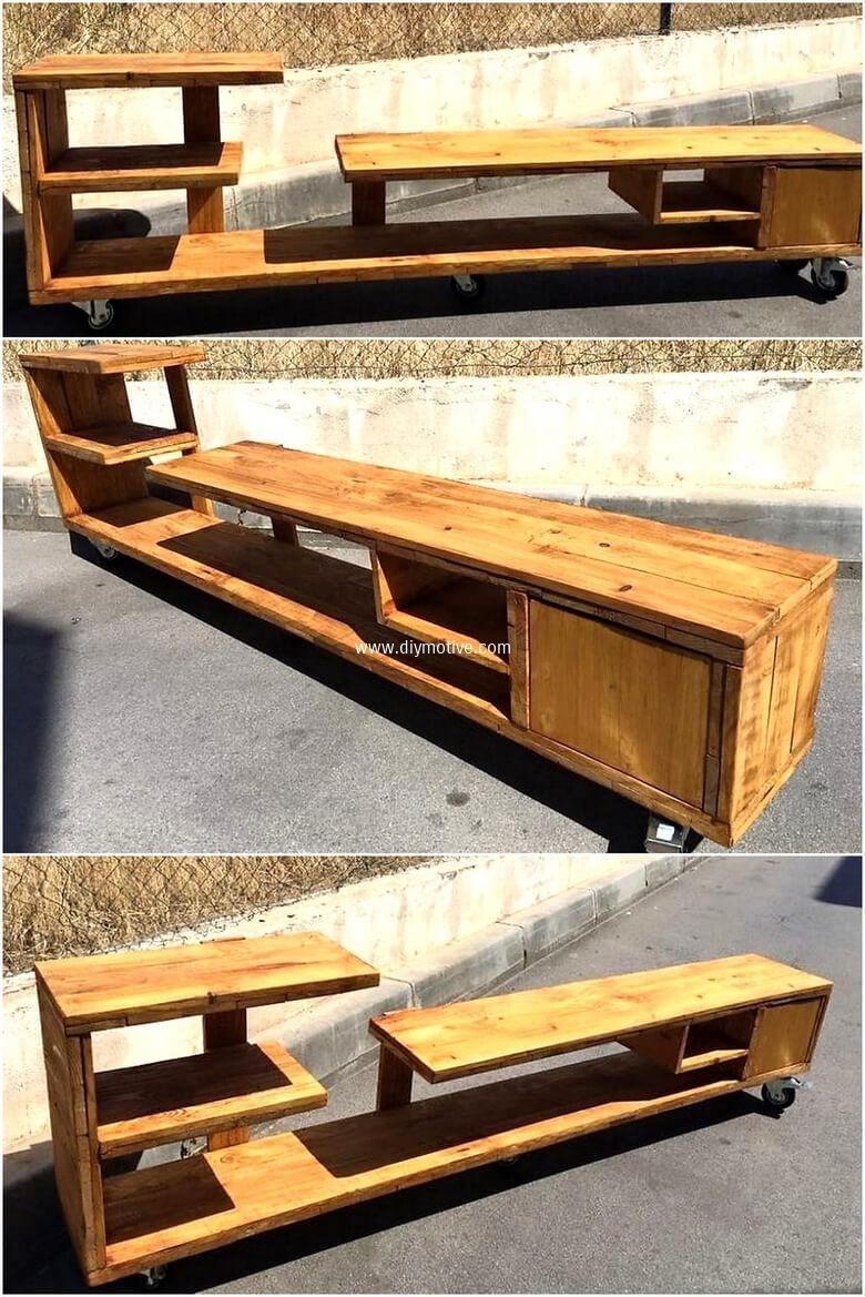 Creative Ideas With Wood Pallets Reusing Wooden Pallets Wood  # Muebles Lixeiro