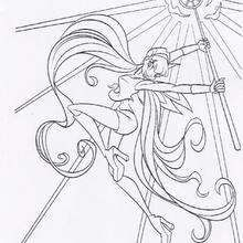 Tecna With Her Magic Power Coloring Page Girl Coloring Pages