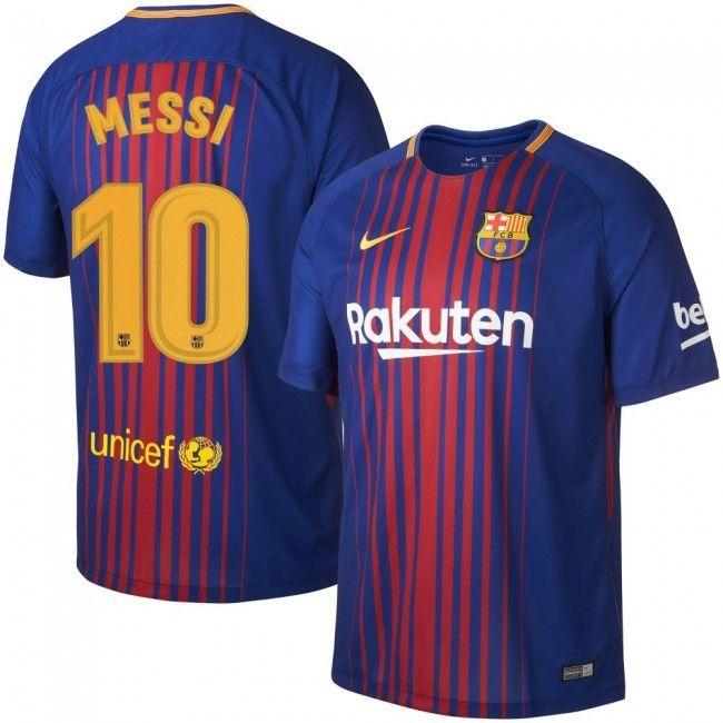 5412a76e4 Men s FC Barcelona Lionel Messi  10 2018 Breathe Stadium Home Jersey Large