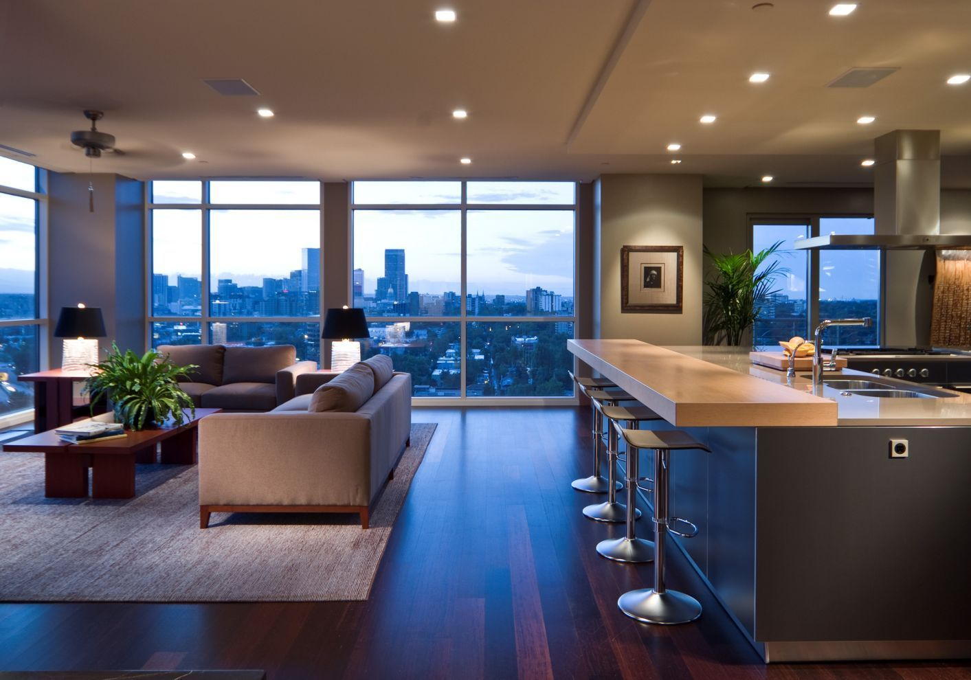 Modern Open Floor Plan Kitchen Completed By Bulthaup Denver Luxeco Luxury Apartment Interior Design Luxury Apartments Interior Modern Apartment Design
