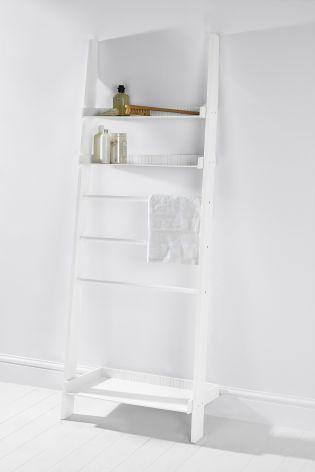 buy white wood leaning ladder shelf from the next uk online shop rh pinterest com